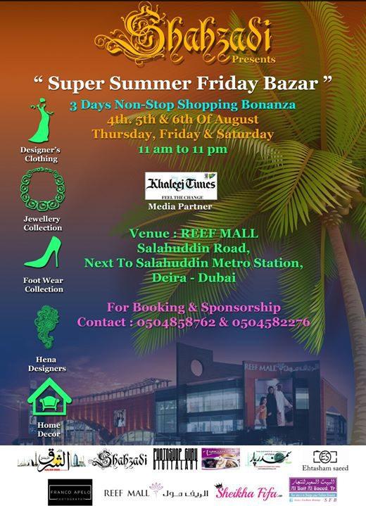 Super Summer Friday Bazaar in Dubai - Coming Soon in UAE, comingsoon.ae