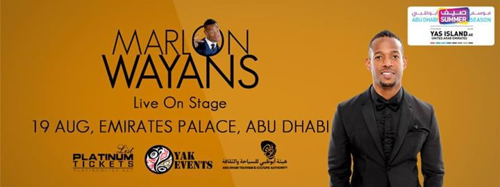 Marlon Wayans Live on Stage in Abu Dhabi - Coming Soon in UAE, comingsoon.ae