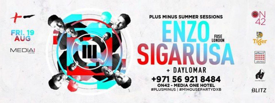 Plus Minus Summer Session #5 with Enzo Siragusa - Coming Soon in UAE, comingsoon.ae
