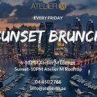 Sunset Brunch at ATELIER M, Dubai
