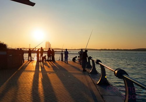 Fishing on Abu Dhabi Corniche
