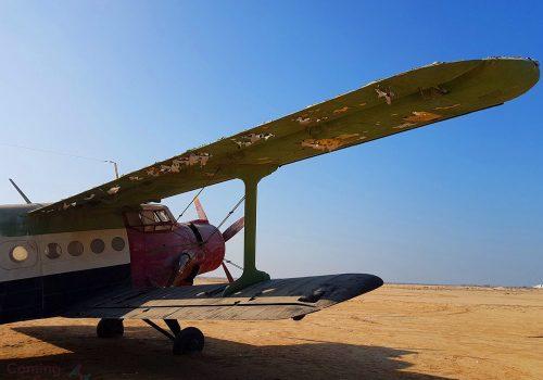 Abandoned plane in Umm Al Quwain