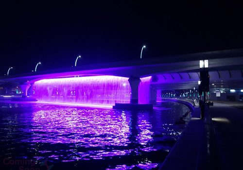 Dubai Water Canal at night