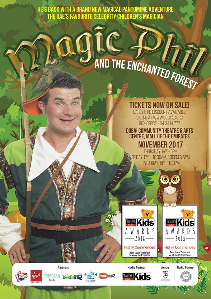 Magic Phil and the Enchanted Forest Dubai - Coming Soon in UAE, comingsoon.ae