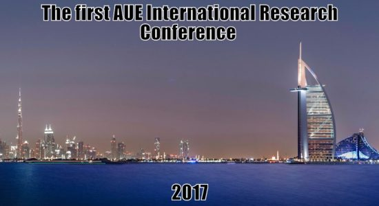 The first AUE International Research Conference 2017 - comingsoon.ae