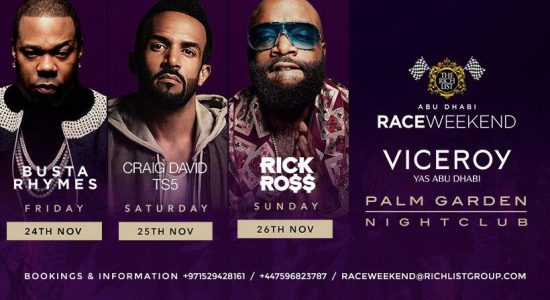 Busta Rhymes, Craig David and Rick Ross live in Abu Dhabi - comingsoon.ae