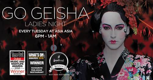 Go Geisha ladies' night