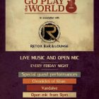 OPEN MIC WITH GO PLAY THE WORLD at Retox, Dubai