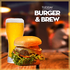 Burger & Brew at Bubbles Bar, Dubai