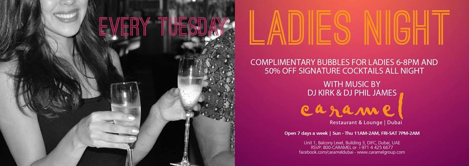 Ladies night with complimentary bubbles