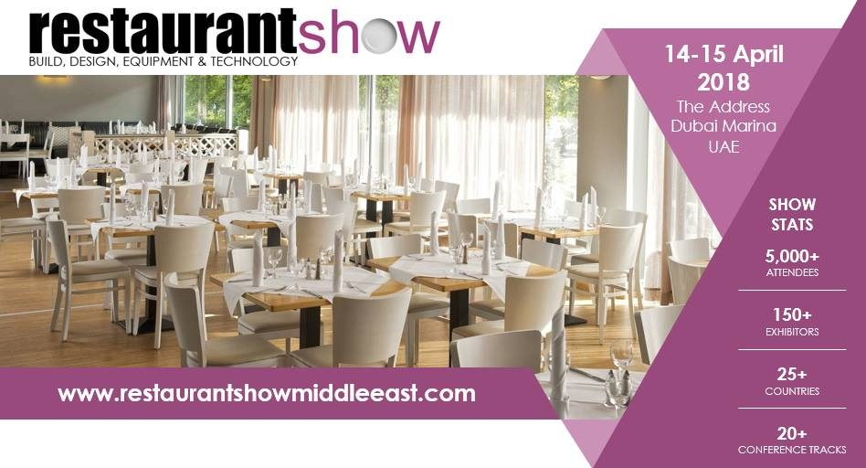 Restaurant Show 2018 - Coming Soon in UAE, comingsoon.ae