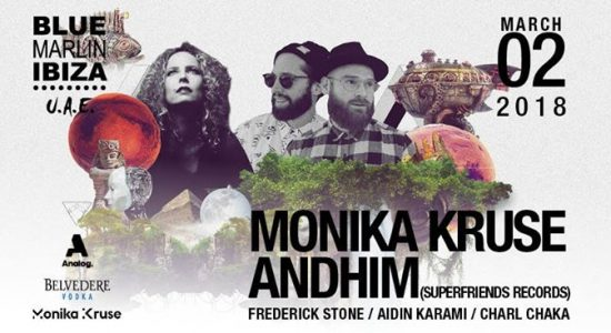 Monika Kruse and Andhim at Blue Marlin Ibiza UAE - comingsoon.ae