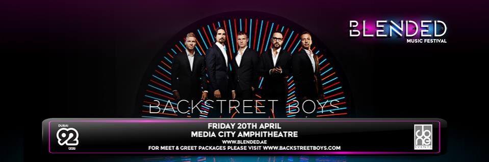 Backstreet Boys live in Dubai - Coming Soon in UAE, comingsoon.ae