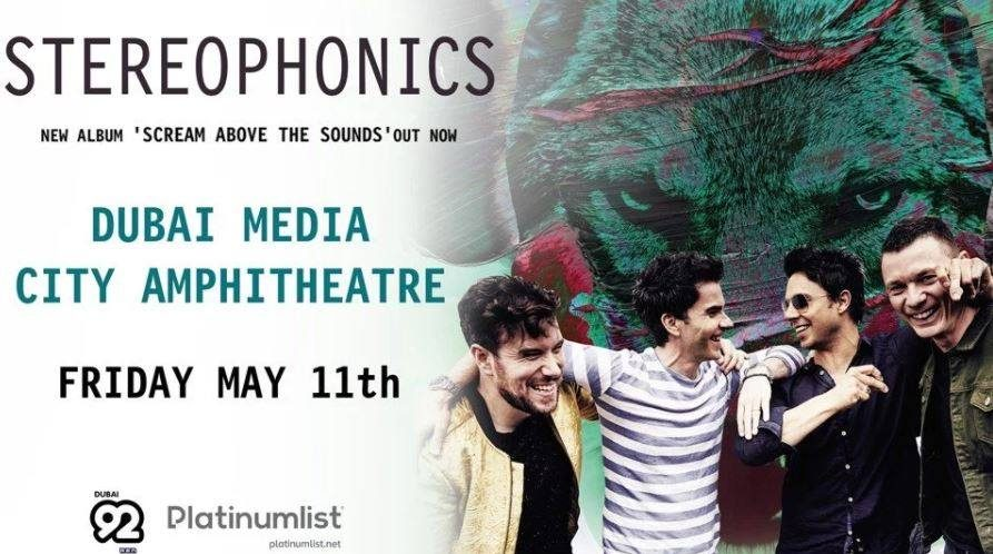 Stereophonics Live in Dubai - Coming Soon in UAE, comingsoon.ae