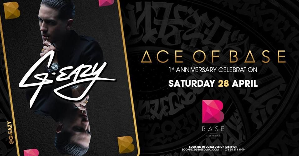 G-Eazy at Base Dubai - Coming Soon in UAE, comingsoon.ae