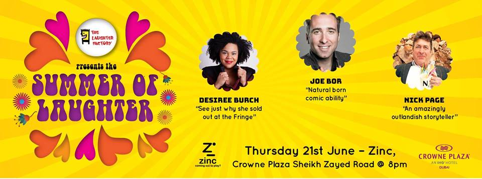 The Laughter Factory at Zinc - Coming Soon in UAE, comingsoon.ae