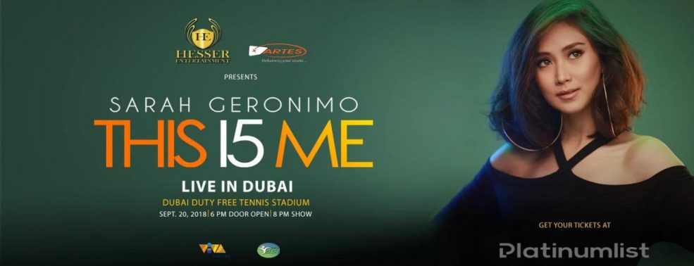 Sarah Geronimo Live in Dubai - Coming Soon in UAE, comingsoon.ae