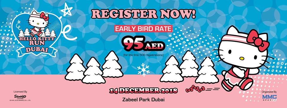 Hello Kitty Run Dubai 2018 - Coming Soon in UAE, comingsoon.ae