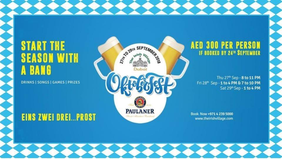 The Irish Village Oktoberfest 2018 - Coming Soon in UAE, comingsoon.ae