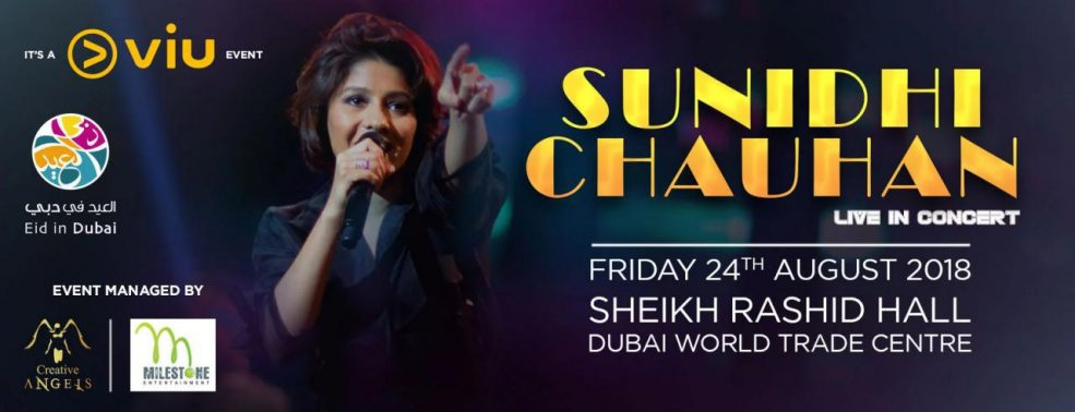 Sunidhi Chauhan Live in Dubai - Coming Soon in UAE, comingsoon.ae