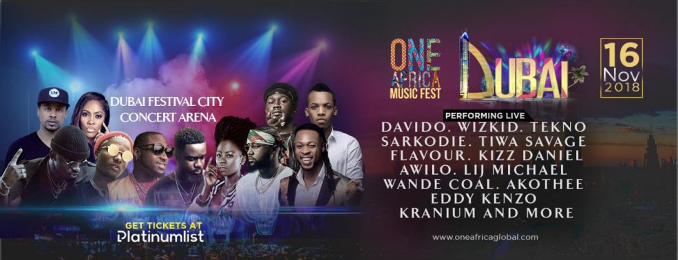 One Africa Music Fest 2018 - Coming Soon in UAE, comingsoon.ae