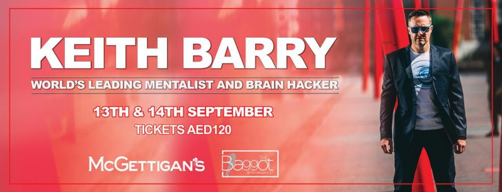 Keith Barry live in Dubai - Coming Soon in UAE, comingsoon.ae