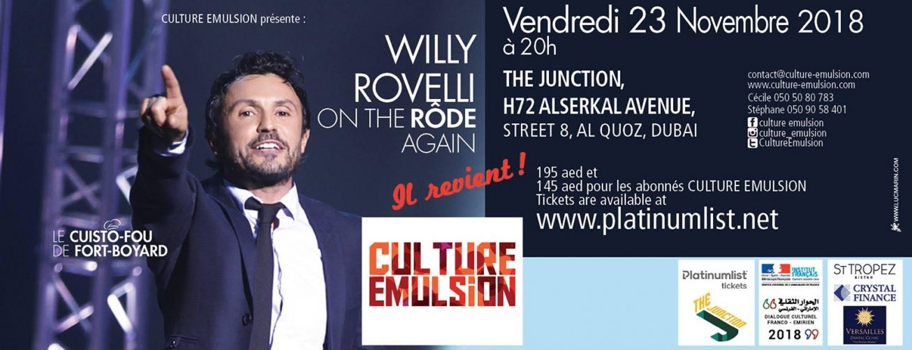 Willy Rovelli — Enjoying a one-man-show - Coming Soon in UAE, comingsoon.ae