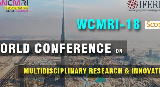 World Conference on Multidisciplinary Research & Innovation - comingsoon.ae