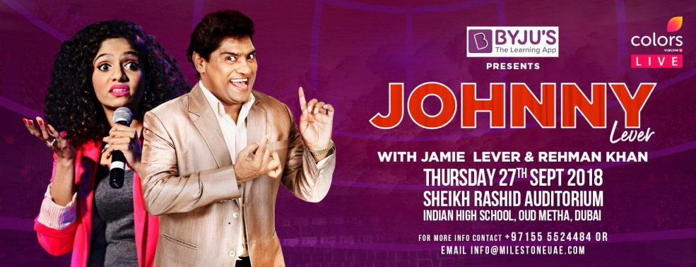 Famous Indian comedian Johnny Lever Live in Dubai - Coming Soon in UAE, comingsoon.ae