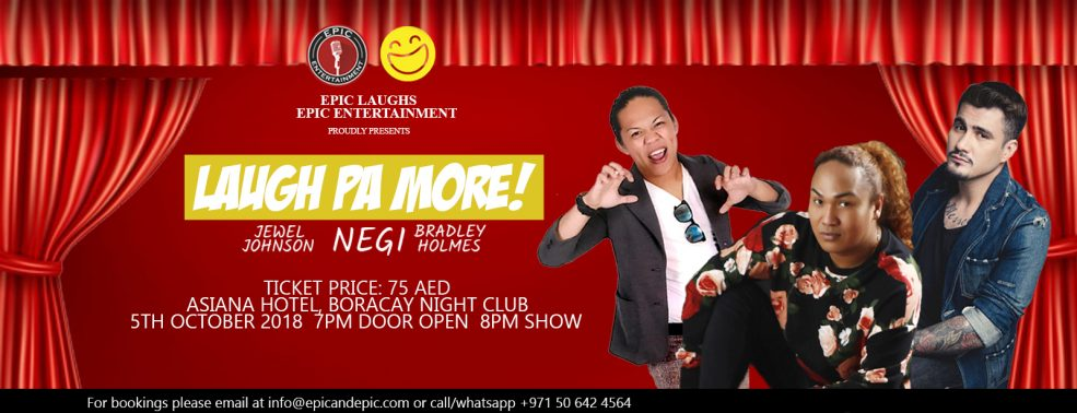 Laugh Pa More — live stand up comedy night - Coming Soon in UAE, comingsoon.ae