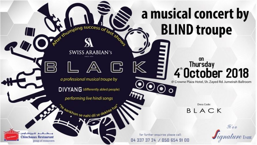 BLACK – unique show of blind musicians - Coming Soon in UAE, comingsoon.ae