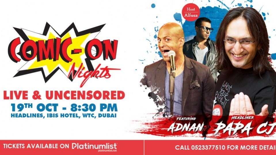 Comic On Nights – Live and Uncensored - Coming Soon in UAE, comingsoon.ae