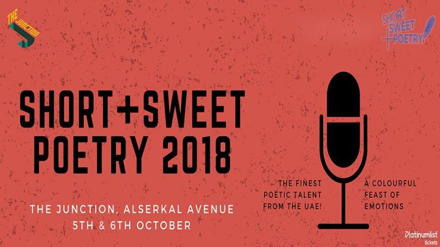 Short+Sweet Poetry Festival 2018 - Coming Soon in UAE, comingsoon.ae