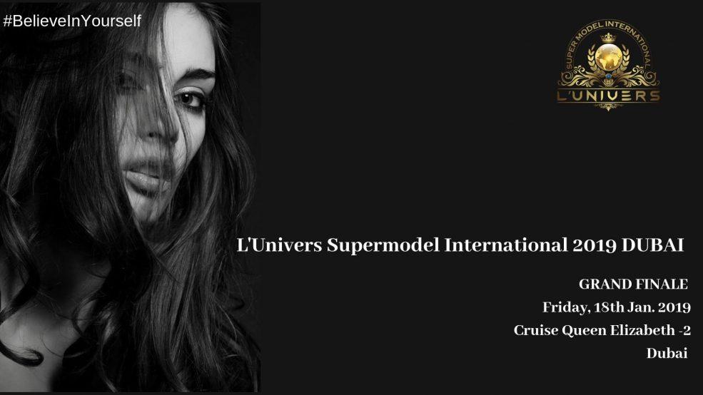 L'univers Super Model International 2019 Dubai - Coming Soon in UAE, comingsoon.ae