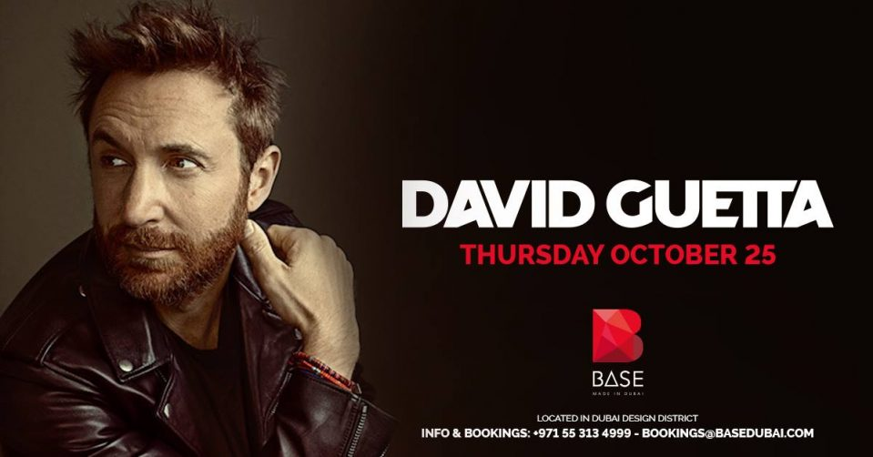 David Guetta's first performance at BASE - Coming Soon in UAE, comingsoon.ae