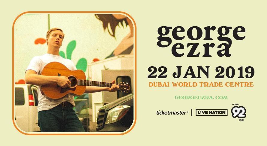 George Ezra Live at DWTC - Coming Soon in UAE, comingsoon.ae