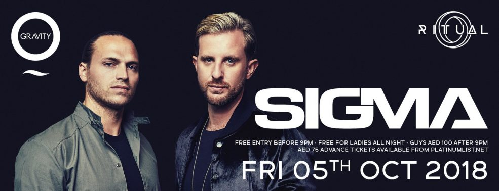 Ritual presents DJ duo Sigma - Coming Soon in UAE, comingsoon.ae