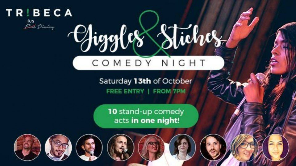Giggles & Stiches – Tribeca Comedy Night - Coming Soon in UAE, comingsoon.ae