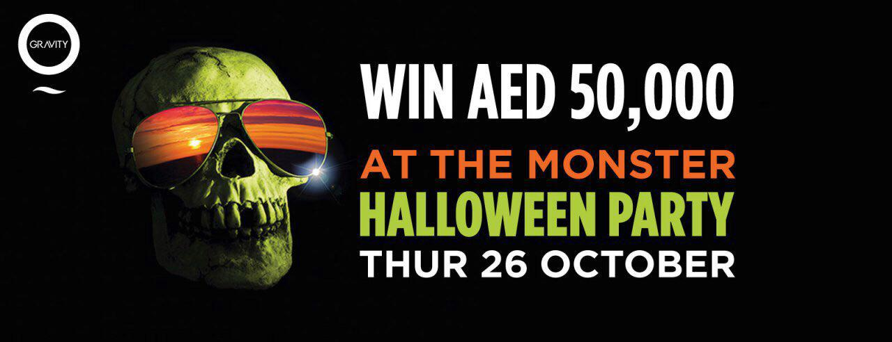 Zero Gravity – The Monster Halloween Party - Coming Soon in UAE, comingsoon.ae