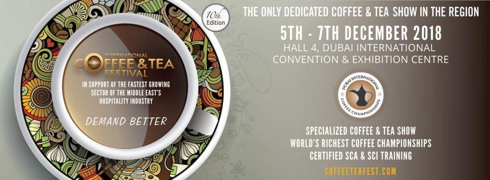 Dubai International Coffee & Tea Festival 2018 - Coming Soon in UAE, comingsoon.ae