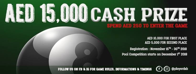 Billiards Competition at Player Sports Bar - Coming Soon in UAE, comingsoon.ae