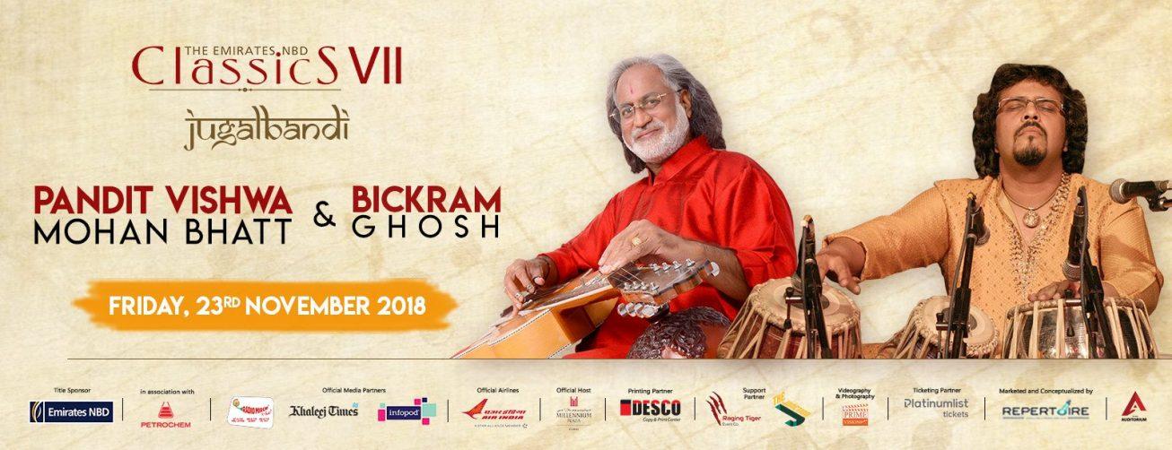 Pandit Vishwa Mohan Bhatt and Bickram Ghosh – Live concert - Coming Soon in UAE, comingsoon.ae