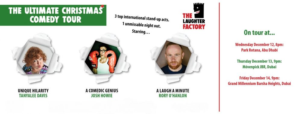 The Laughter Factory: The Ultimate Christmas Comedy Tour - Coming Soon in UAE, comingsoon.ae