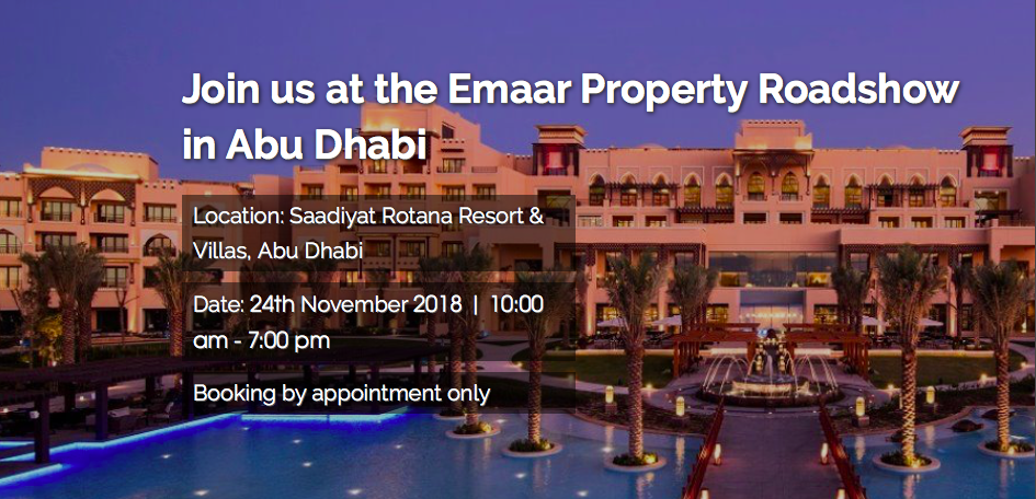 Emaar Property Show in Abu Dhabi - Coming Soon in UAE, comingsoon.ae