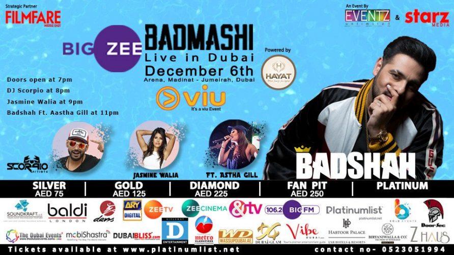 Badmashi By Badshah Live Concert - Coming Soon in UAE, comingsoon.ae