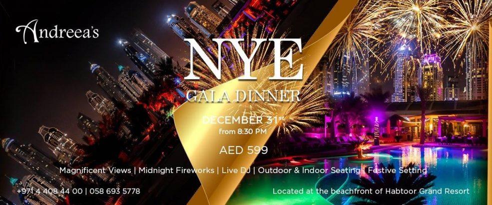Andreea's NYE 2019 Gala dinner - Coming Soon in UAE, comingsoon.ae
