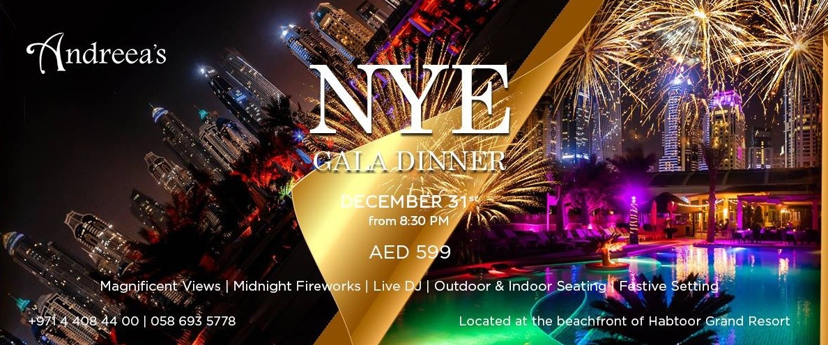 Andreea's NYE 2019 Gala dinner - Coming Soon in UAE, comingsoon.ae