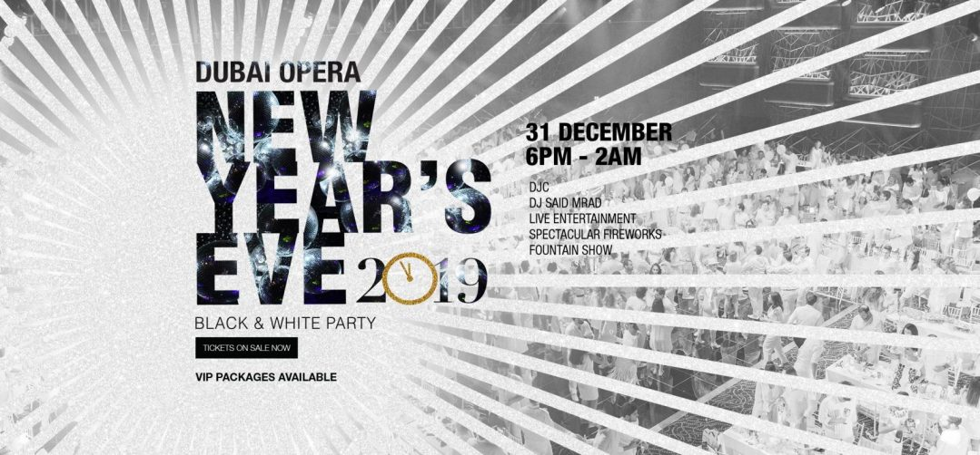 New Year's Eve Black and White Party at the Dubai Opera - Coming Soon in UAE, comingsoon.ae