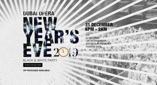 New Year's Eve Black and White Party at the Dubai Opera - comingsoon.ae