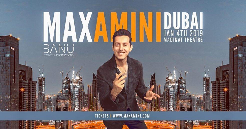 Max Amini Live Comedy - Coming Soon in UAE, comingsoon.ae